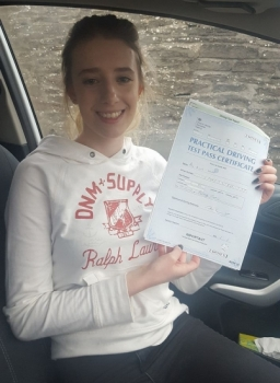 6117 - After a huge amount of hard work our Aimie passed her driving test today 1st time with only 2 minors a little self belief gets you everywhere ;- Congratulations kiddo we are all super proud
