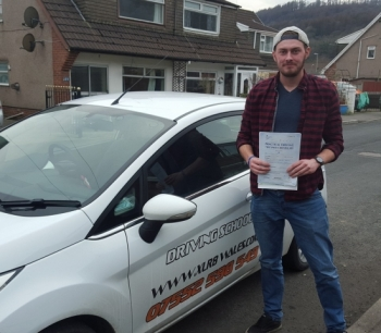 2622016 - Another stunning result from Alex on passing his driving test today in Merthyr Tydfil 1st time Enjoy your freedom smile emoticon Oh yeah all in 9 hours flat too