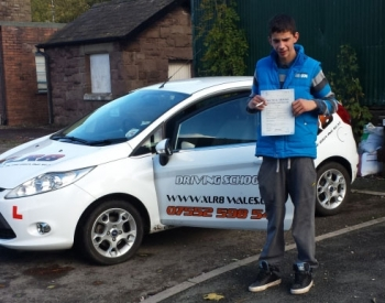 Well Done to Alex from Newbridge for passing his driving test in Abergavenny with only 4 minors and only 24 hours of lessons What a result Fifi will NOT miss those daily mountain treks up to the farm Drive Safe in your new little Corsa