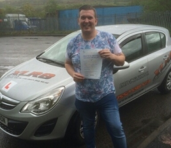 7515 - Congratulations to Allyn Smith who passed his driving test 1st time with XLR8 Wales with our Peter What a lovely result and we all look forward to seeing you beeping around Aberbargoed