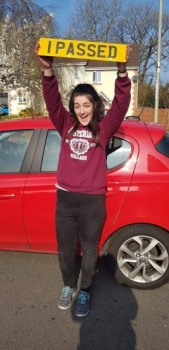 2.4.19 - Congratulations to Amy Hackman on passing her automatic driving test first time in Merthyr with our Rhys!!! Well done and safe driving 👍🚗