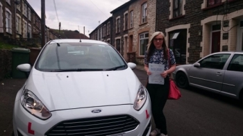 11015 - Congratulations to Amy Pearl Potter on passing her test this afternoon in Merthyr Tydfil with only 4 faults Good luck car shopping and enjoy your weekend away :-