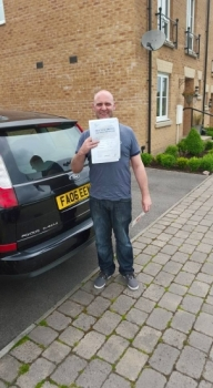 7715 - Brilliant result for Andrew last week passing his automatic driving test in Merthyr Tydfil 1st time and with so few minors whoacute;s the Daddy