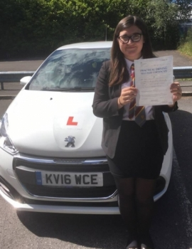 22.6.18 - Congratulations to Angharad Lloyd who passed her driving test 1st time with our Peter