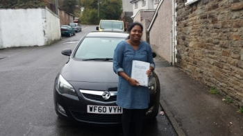23102014 - A massive well done to Anjuk who passed her Automatic Driving Test today with just 16 hrs of lessons in Merthyr Tydfil she passed with just 1 minor BRILLIANT