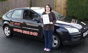 22012014 - Well Done to Ashleigh from Gelligaer who passed her automatic driving test 1st time in Merthyr Tydfil What a stunning result Ashleigh - we are all very proud of you