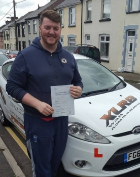 3516 - Another lovely result with our Peter - Congratulations goes out to Josh King who passed his driving test 1st time today in Merthyr Tydfil