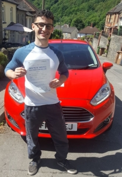 21.6.18 - What a stunning result from Ben Dennis on passing his test in Abergavenny 1st time with just 1 minor. Good luck being a mad scientist and enjoy Illfracombe :-)