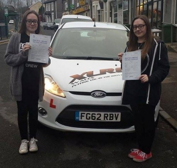 5115 - What an AMAZING start to 2015 Congratulations goes out to both Megan AND Bethan Williams who both passed their driving test 1st time today in Merthyr Tydfil We are all very proud of you - what a lovely result