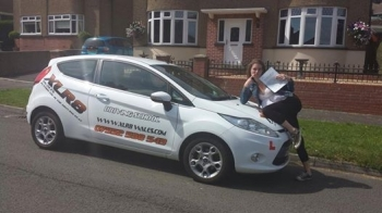 17714 - A massive congratulations goes out to Billie Jenkins who passed her driving test today in Merthyr Tydfil 1st time Couldnt help but post this photo up It was too good