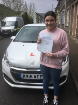 25.4.18 - Congratulations to Caitlin Thomas on passing her driving test today 1st time with only 1 minor driving fault.... As close to perfect as you can get!!