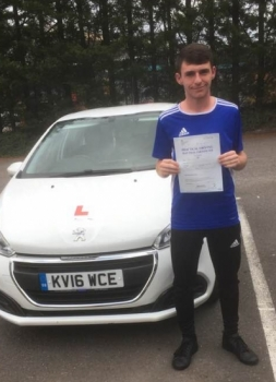 12.9.2019 - Congratulations to Caz Williams passing his driving test 1st time today with ZERO faults with our Peter!!! Well done Caz - really proud!!