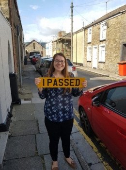 12.8.19 - Congratulations to Ceri Beynon on passing her automatic driving test today in Merthyr with our Rhys!!!! Well done and safe driving 👍🚗👍🚗