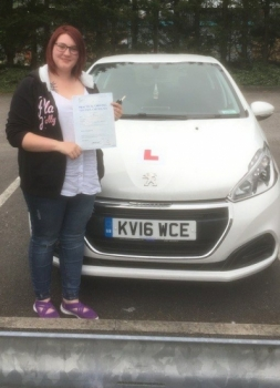 23517 - Congratulations goes out to Charlotte Bond who passed her driving test today 1st time in Merthyr Tydfil with our Peter