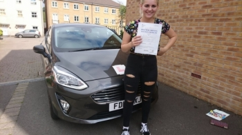 21.8.18 - Congratulations to Chloe Scarfe on passing her test today in Merthyr Tydfil with only 5 faults lovely result now time to get your car on the road...