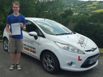 9715 - Congratulations goes out to Craig Hale who passed his driving test today in Abergavenny after starting with us on our Under 17 lessons then moving onto one of our 2 week semi intensive courses what a superb drive and a lovely result smile emoticon I shall miss the daily weather reports