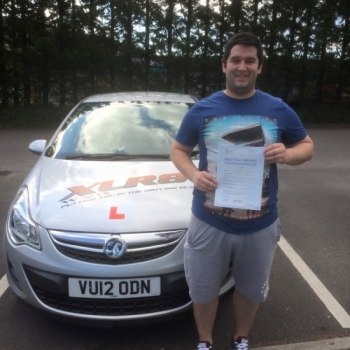 31715 - Another 1st time pass for our Peter Congratulations to Craig Morgan on passing his driving test in Merthyr Tydfil with only 2 minors lovely result