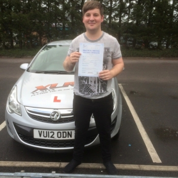 31715 - Congratulations to Damien Miles who passed his driving test in Merthyr Tydfil 1st time with our instructor Peter stunning result :-