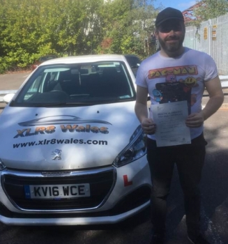 17.9.2019 - Congratulations to Daryl Leach on passing his driving test today in Merthyr, 1st time with only 3 minors!!
