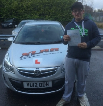 27.11.15 - 27.11.15 - Congratulations to Ethan Lewis on passing his driving test in Merthyr Tydfil 1st time... what a lovely result!!...