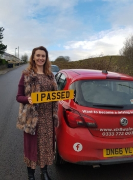 2.12.19 - Congratulations to Florence Craft on passing her automatic driving test today in Abergavenny first time with 0 minors