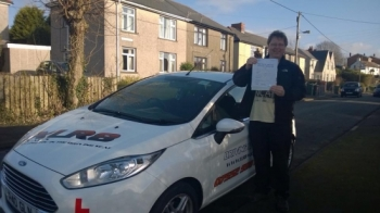 241214 - Congratulations to Gareth Brace on passing his test at Pontypridd first time Happy Driving