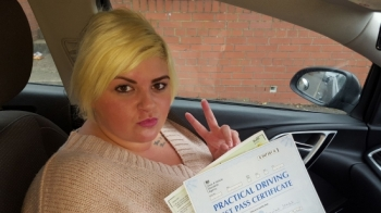 27117 - A massive well done to Gemma Jones on passing her driving test today first time with just a couple of minors Well proud Gem :-