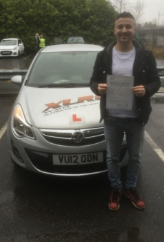 31117 - Congratulations to Halil who passed his driving test today in Merthyr Tydfil 1st time with our Peter :-