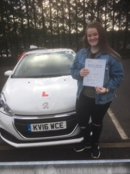 5.3.19 - Congratulations to Hannalee on passing her driving test today after completing a semi intensive course with our Peter ... safe driving!! 🚦🚗