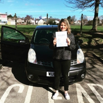 9317 - A massive well done goes to Hollie today Hollie passed her automatic driving test in Newport first time and with just 5 minors Brilliant resultwell done Hollie :-