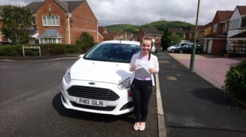 8/6/17 - Congratulations to Hope Morgan on passing her test this afternoon in Pontypridd first time with only 4 faults awesome job...