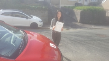 4.9.2019 - A massive well done to Iuliana Madalina Voda on passing her Automatic driving test today after doing an intensive course with our Rob. All