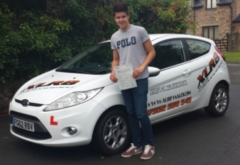 James passed his driving test on 22nd August after only 20 hours of training on an intensive driving course and passed only 7 days after his 17th birthday On top of this he passed with only 1 minor Another great result