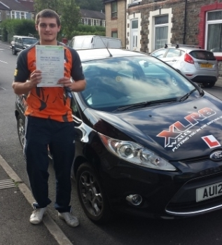 Congratulations to James who passed his driving test 1st time with XLR8 Wales after a 2 week semi intensive course and only with 1 minor Well Done from everyone at XLR8 Wales
