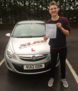 2222016 - Congratulations goes out to Jason Beyes who passed his driving test in Merthyr 1st time with only 3 minors stunning