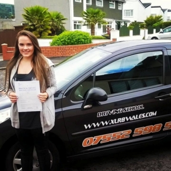27715 - Congratulations Jessica on passing your driving test today in Abergavenny with only 3 minors and first time too A great result after a 20 hour semi intensive course Well done Jessica :-