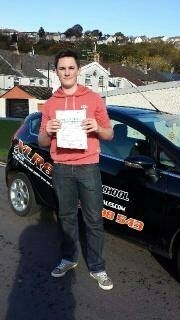 131113 - Congratulations Joe on passing your driving test today in Pontypridd Enjoy your new car :-