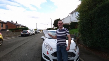41116 - Congratulations to Joel Brown on passing his test first time today in Merthyr Tydfil with only 20 hrs