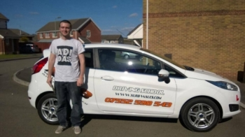 140414 Big congratulations to Joseph on passing his driving test today first time at Merthyr Tydfil nice one mate