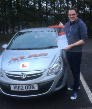 161216 - Congratulations to Karl Cooper who passed his driving test 1st time with our Peter after taking up a 2 week semi intensive course well done