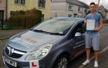 Kieran passed 1st time after taking only 26 hours of driving lessons on 3rd September 2013 A massive well done from everyone at XLR8 Wales Driving School