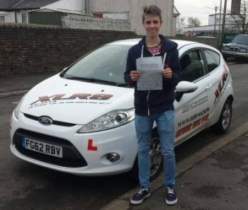 280214 A massive congratulations goes out to Kieran Williams who passed his test in Merthyr Tydfil 1st time today and after ONLY 26 hours of driving lessons with Ali What a brilliant result