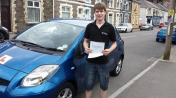 260614 Big well done to Kieron Russ on passing your driving test today in Pontypridd first time and after only 25 hours