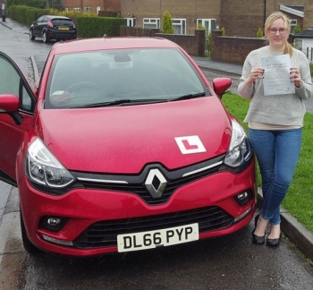24.4.187 - Congratulations to Kristina Ransiene on passing her automatic driving test today with only 2 little minor faults... Stunning result!!