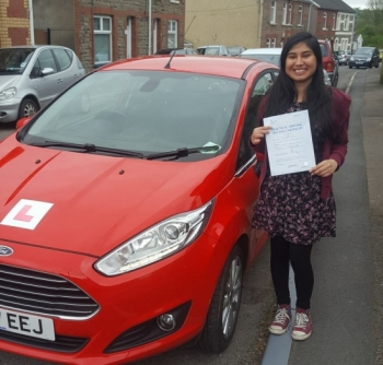 4.5.18 - What a lovely result for our Kuldeep who passed her driving test 1st time with us today in Merthyr... after all the anxiety and nerves, you dug deep and pulled it out of the bag!! Super proud of you!!!!!