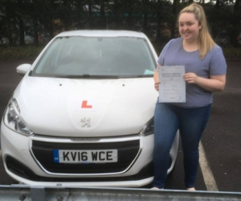 14112017 - Lauren Bryant passed 1st time today with 5 minors with our Peter We wish you good luck on your new business venture starting today :-