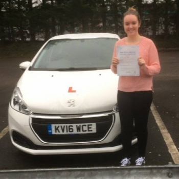 9118 - Congratulations to Lauren Davies who passed her test today 1st time in Merthyr with our Peter and with only 1 minor stunning result