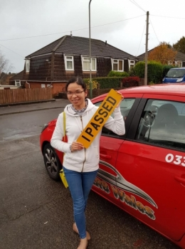 6.11.19 - Congratulations to Le Phuong on passing her driving test today in Abergavenny with our Rhys 👍🚗👍🚗. Well done and safe driving!!!