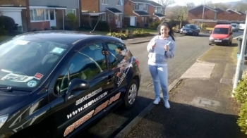 10315 - A big congratulations to Leah today for passing her driving test in Newport with just 5 minors Well done :-
