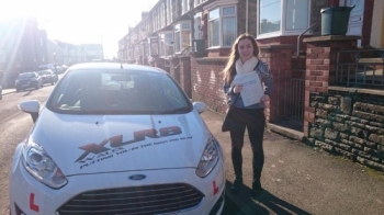 6215 - Congratulations goes out to Lucy Roach on passing her driving test this morning first time at Merthyr Tydfil with only 2 minors